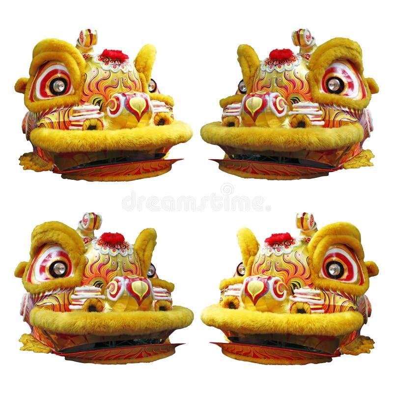 Kines Lion Dance Head arkivfoton