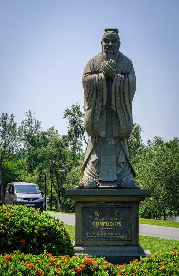 Kines stenar statyn i Singapore royaltyfri bild
