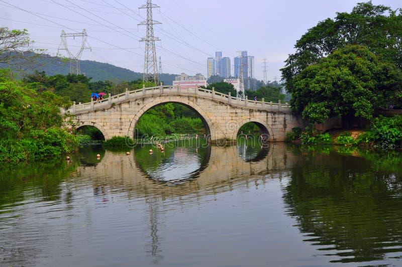 Kinesbåge royaltyfri fotografi