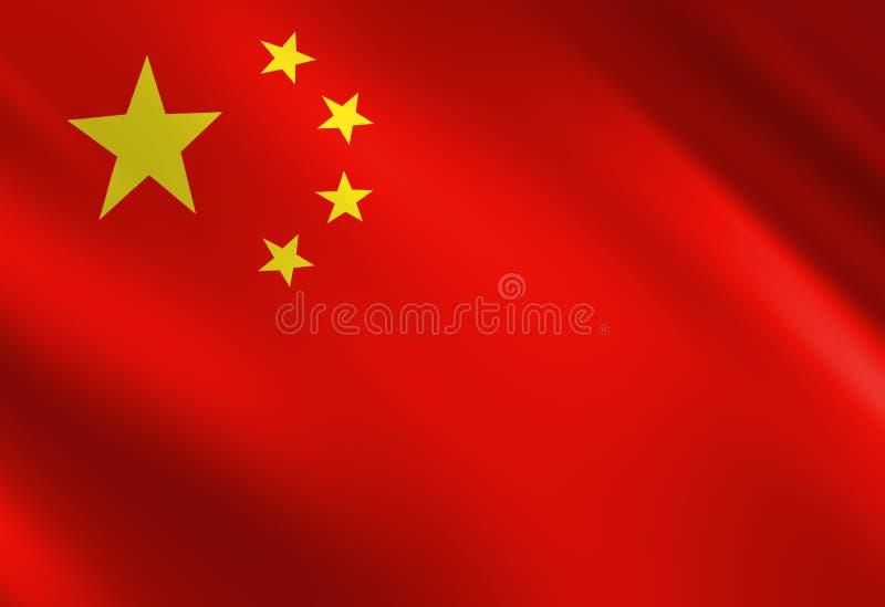 Kinesen sjunker vektor illustrationer