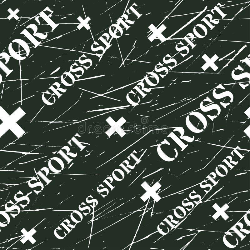 Kinesio taśmy horyzontalny bezszwowy wzór lub tło Przecinający sporta grunge projekta elementy, x etykietka, sport tkanina ilustracji