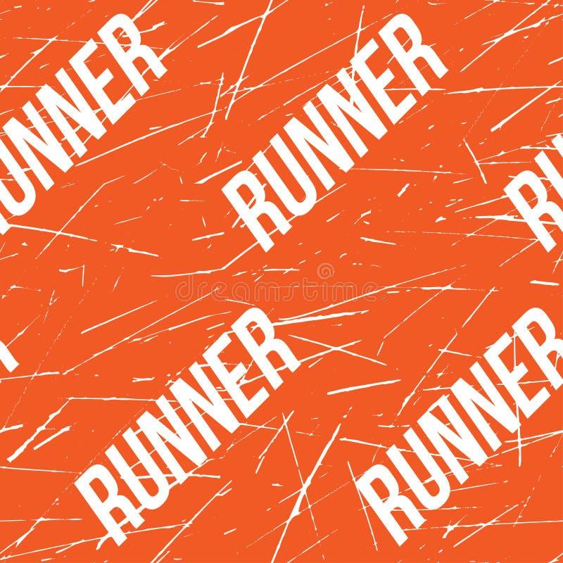 Kinesio taśmy horyzontalny bezszwowy wzór lub tło Sprawność fizyczna biegacza pomarańczowi Porysowani elementy, sport etykietka,  ilustracji