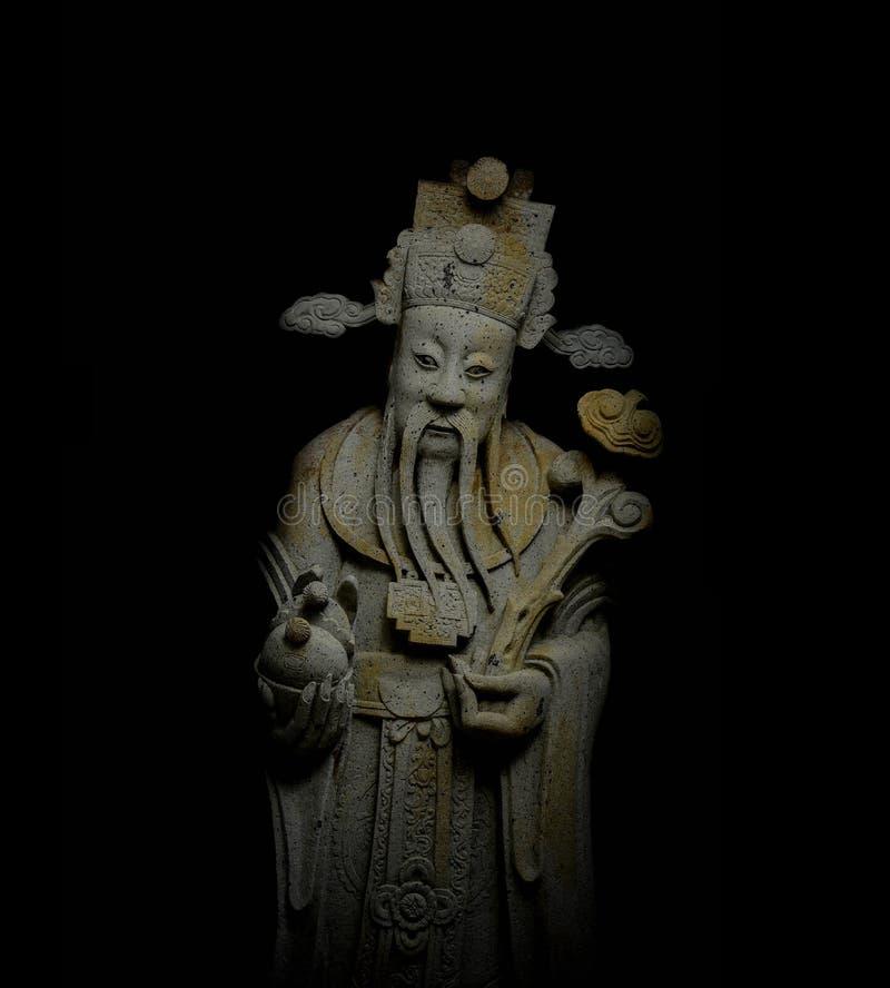 Kinesisk adelstaty för sten i den Thailand templet arkivfoton