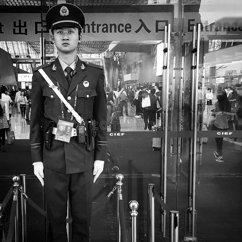 Kinesisk armévakt royaltyfria foton