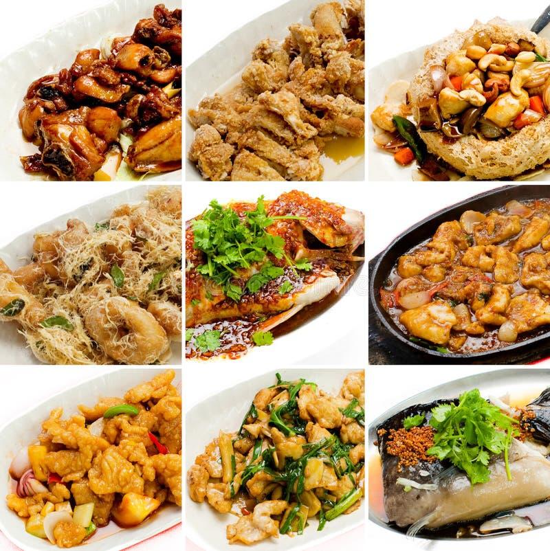 Kinesisk asiatisk mat för samling arkivbilder
