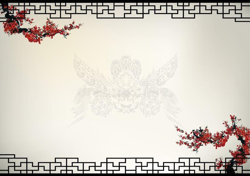 Kinesisk bakgrund vektor illustrationer