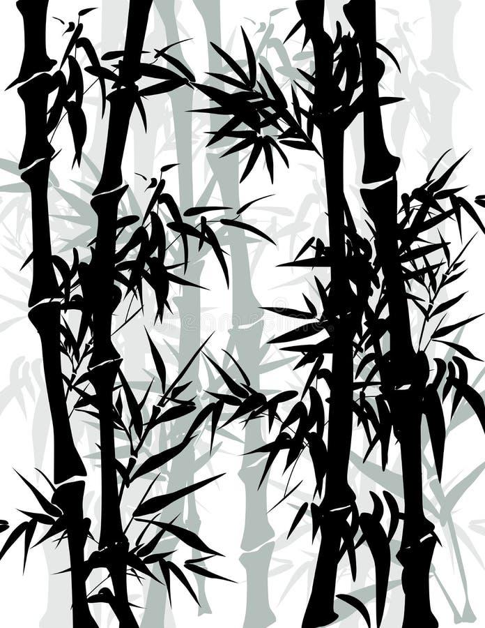 Kinesisk bambu stock illustrationer