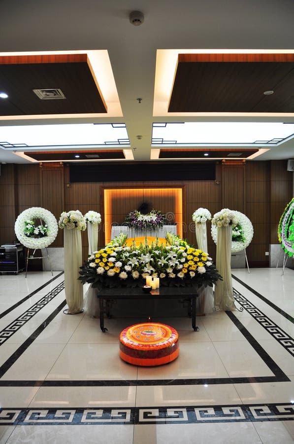 Kinesisk begravning arkivbild