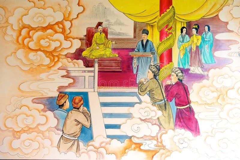 Kinesisk berättelsemålning stock illustrationer