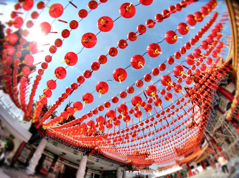 Kinesisk beröm för nytt år royaltyfria foton