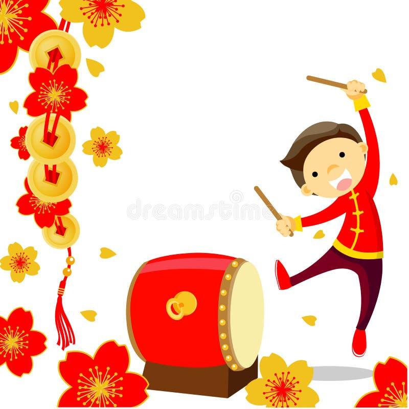 Kinesisk beröm för nytt år royaltyfri illustrationer