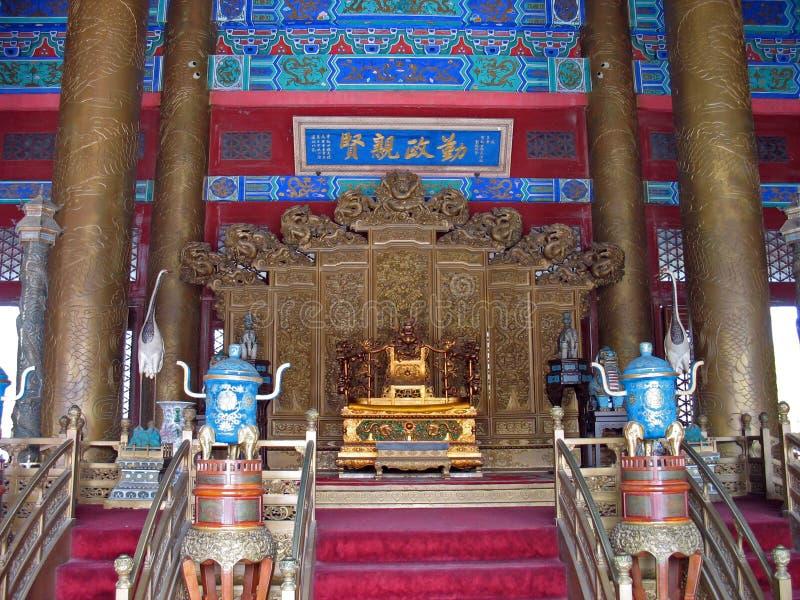 kinesisk biskopsstol för kejsare s royaltyfri foto