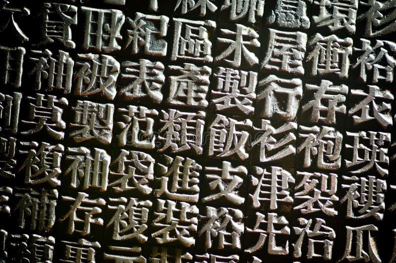 kinesisk boktrycktyp royaltyfria bilder