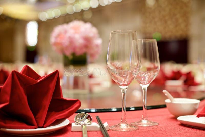 Kinesisk brölloptabellaktivering arkivfoto