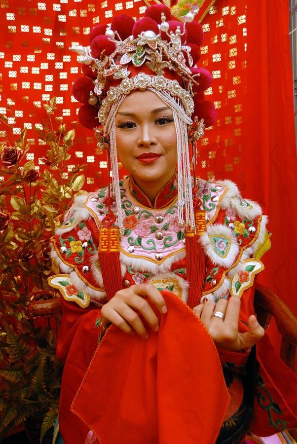 Kinesisk brud royaltyfria foton
