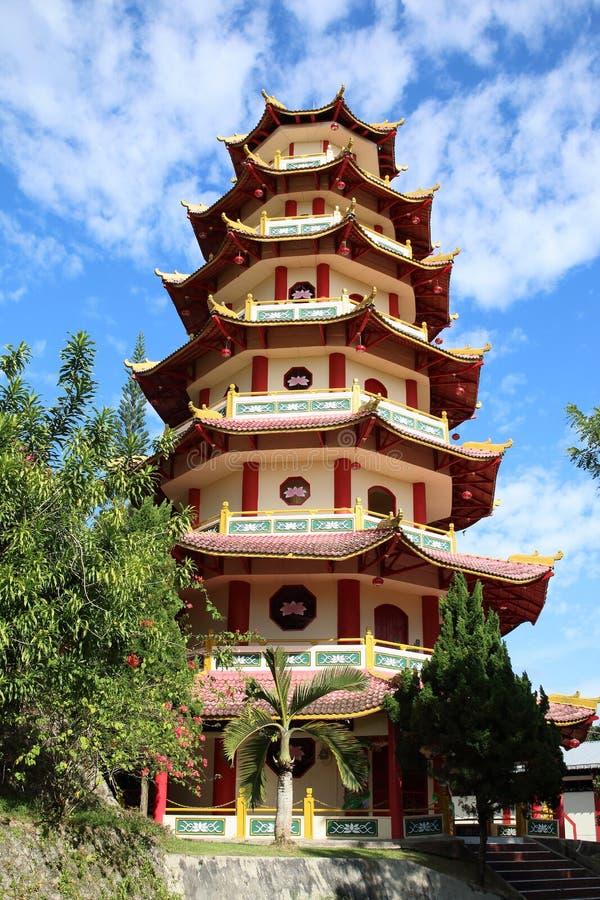 Kinesisk buddistisk pagod Sapta Ratna royaltyfria bilder