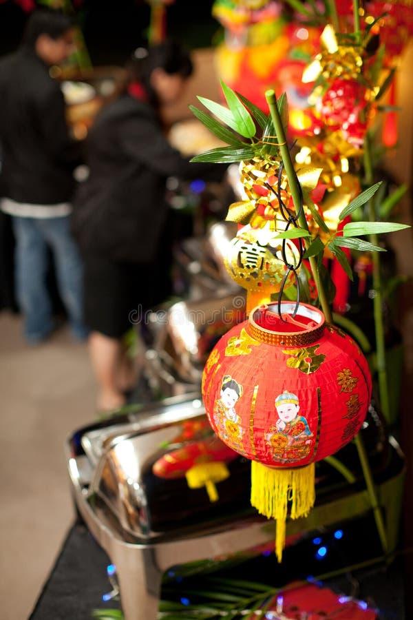 Kinesisk bufféinställning för nytt år arkivfoto