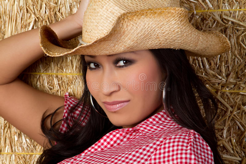 kinesisk cowgirl royaltyfria bilder