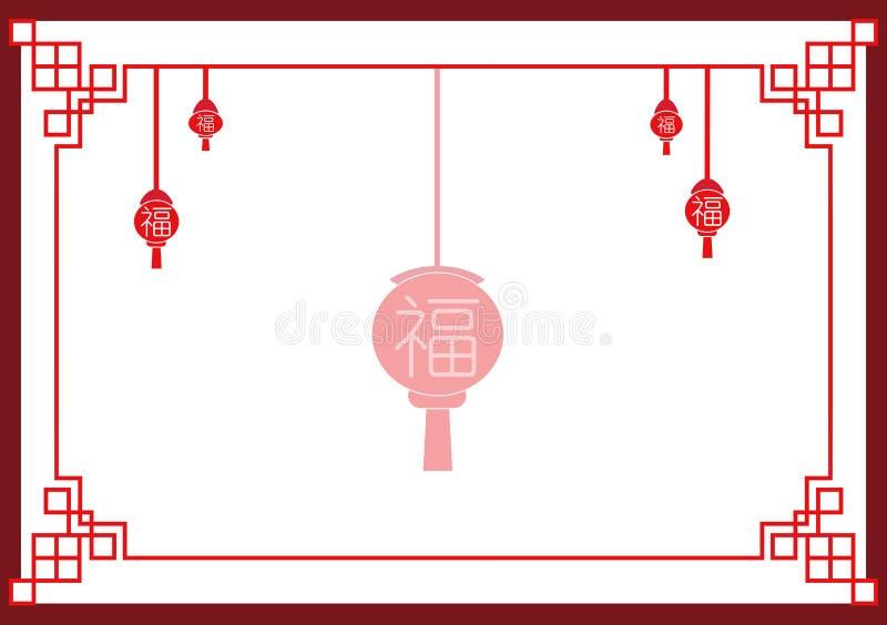 Kinesisk dagbakgrund för nytt år vektor illustrationer