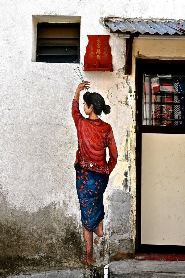 Kinesisk dam som betalar respekter royaltyfri fotografi