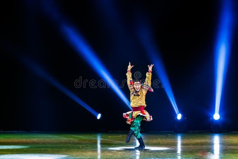 Kinesisk danssamling fotografering för bildbyråer