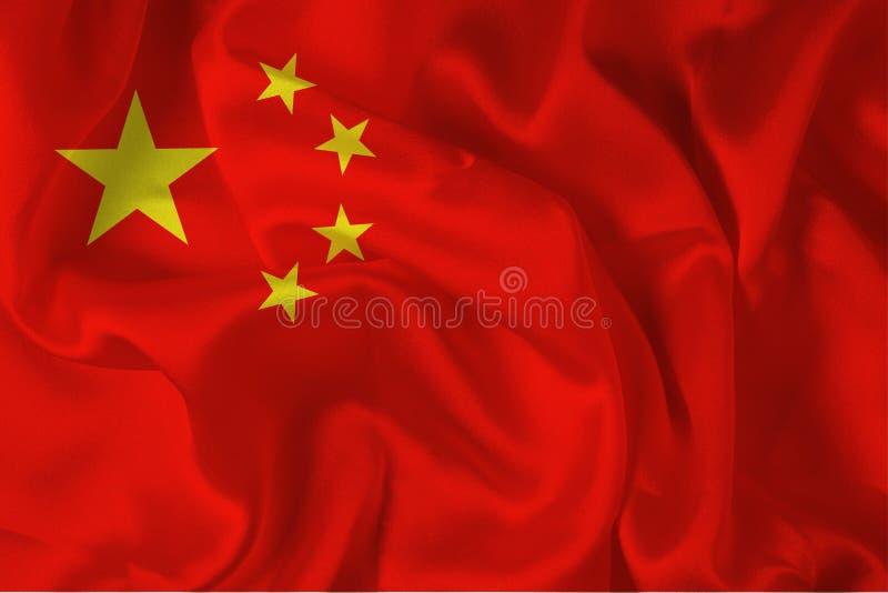kinesisk digital flagga royaltyfri illustrationer