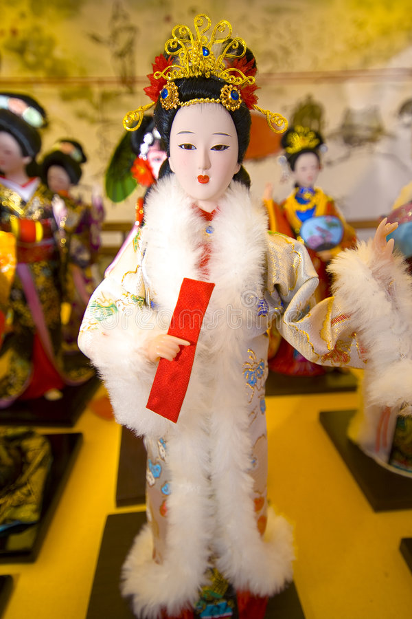 Kinesisk docka royaltyfria bilder