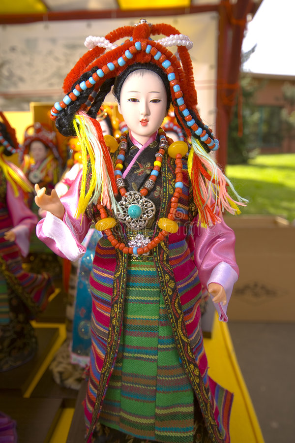 Kinesisk docka royaltyfri foto