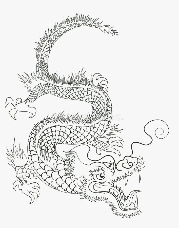 kinesisk drake vektor illustrationer