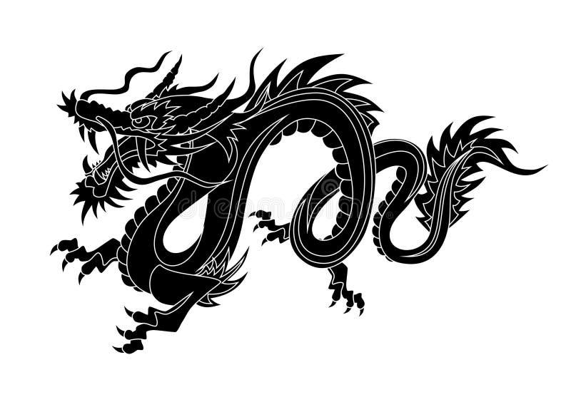 kinesisk drake royaltyfri illustrationer