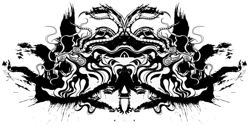 kinesisk drake stock illustrationer