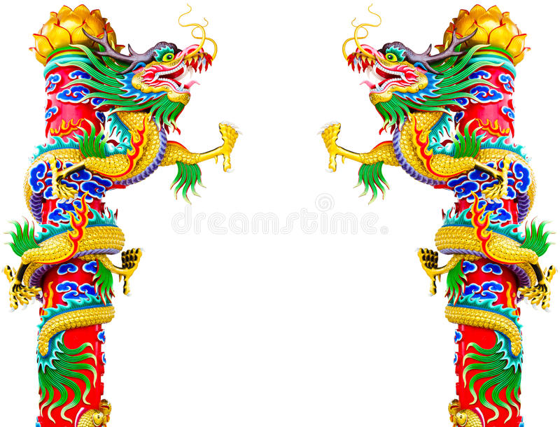 kinesisk drakestatystil arkivfoton