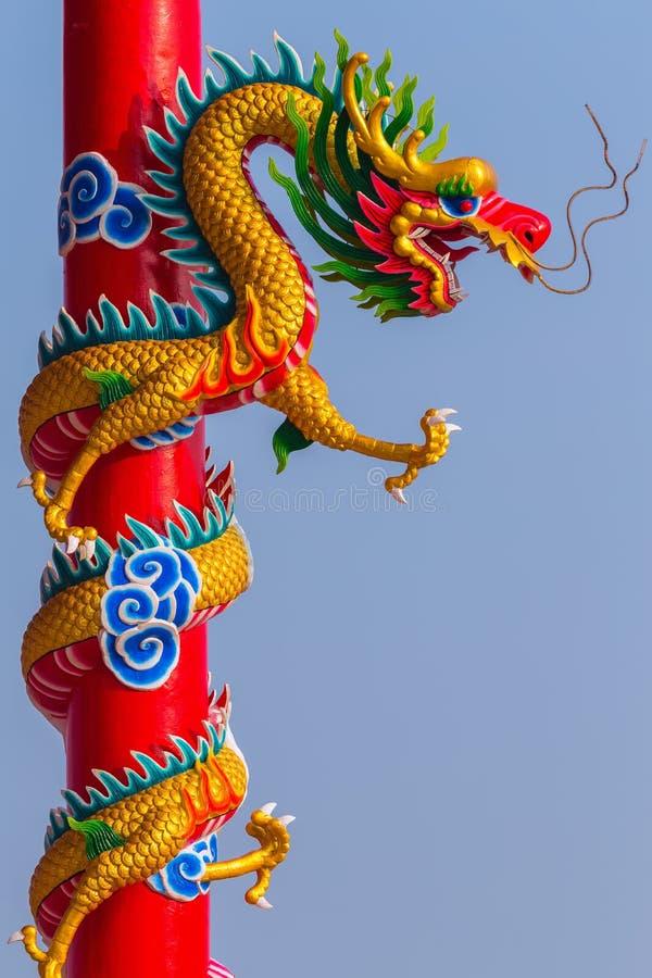 kinesisk drakestatystil arkivbild