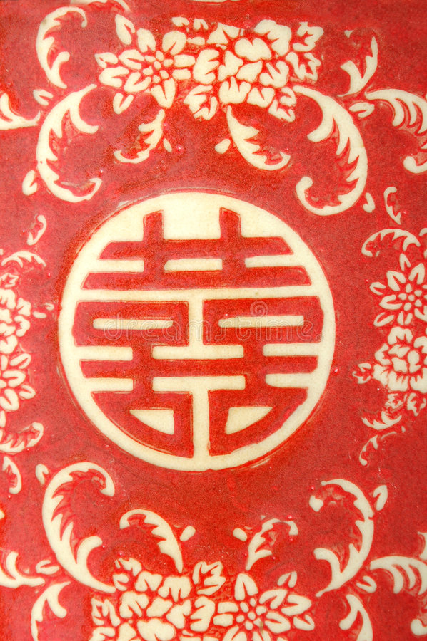 kinesisk dubbel lycka arkivfoton