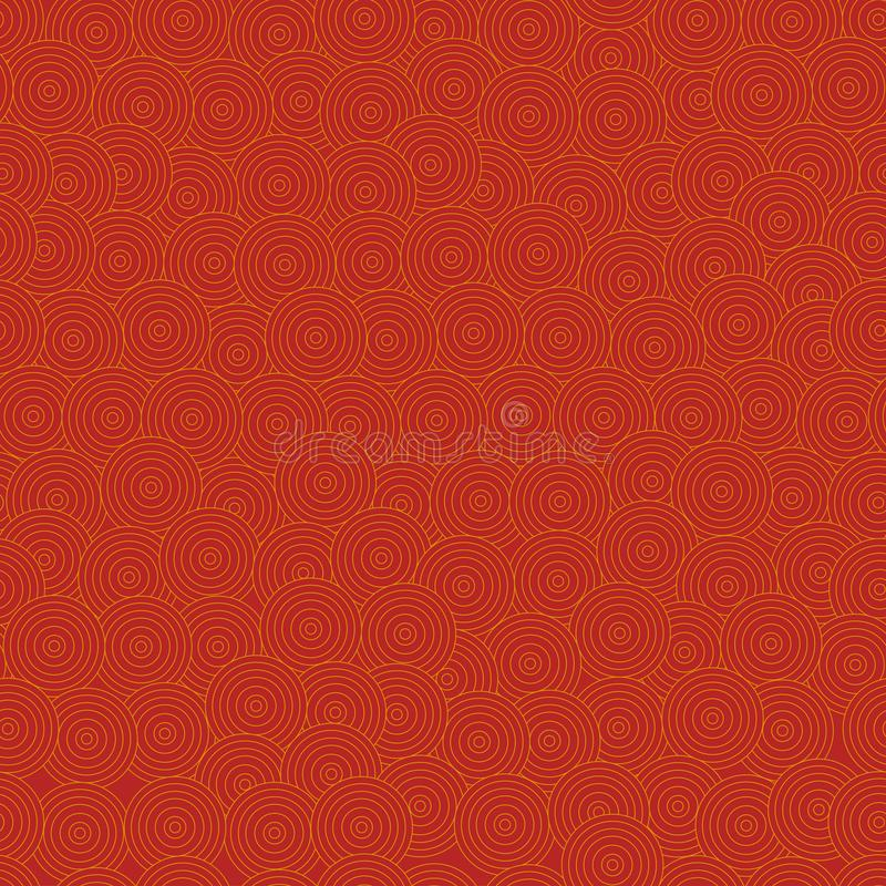 Kinesisk eller japansk nationell sömlös modell Asien konst, röd bakgrund östlig tradition också vektor för coreldrawillustration vektor illustrationer