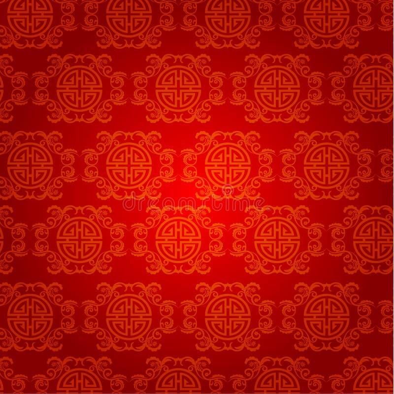 Kinesisk för bakgrundsvektor för nytt år design royaltyfri illustrationer