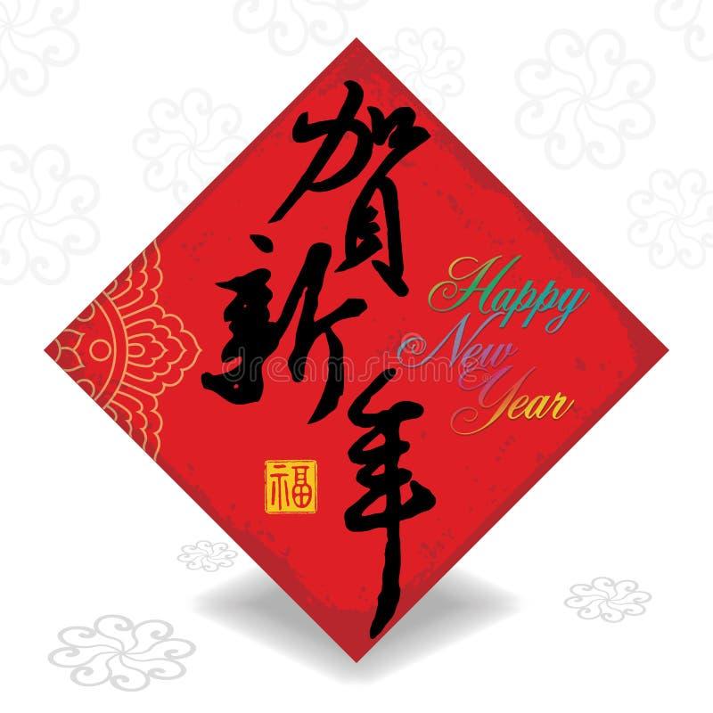 Kinesisk för hälsningskort för nytt år bakgrund