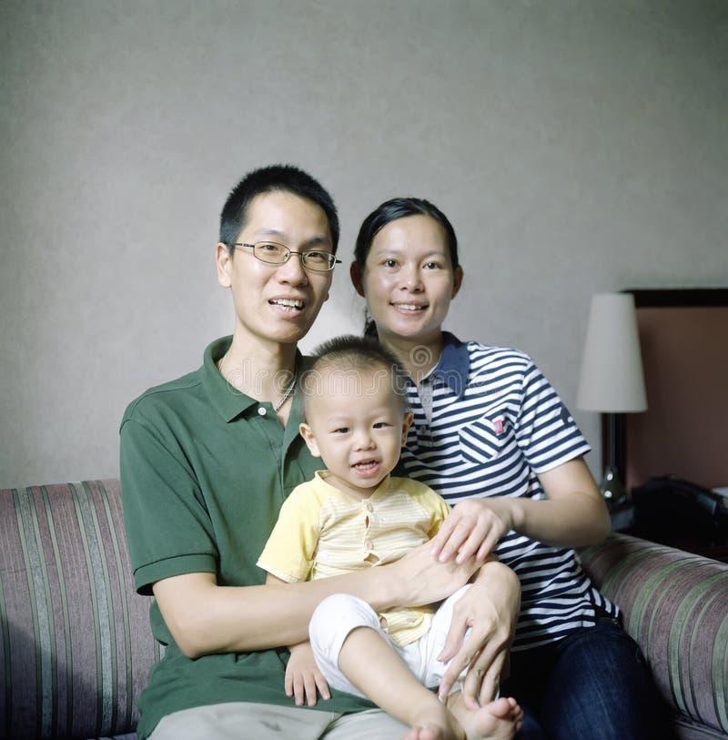 kinesisk familj royaltyfri bild