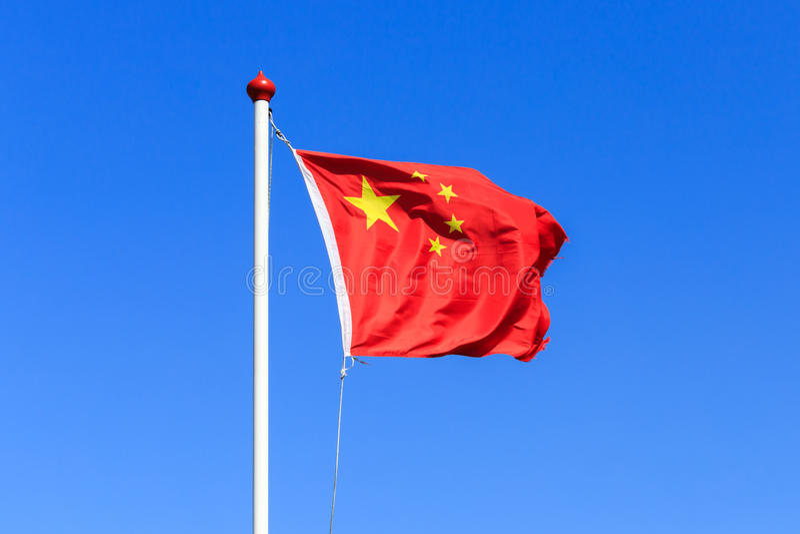 kinesisk flagga royaltyfri foto
