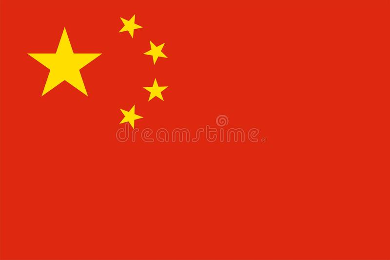 Kinesisk flagga - Kina royaltyfri illustrationer