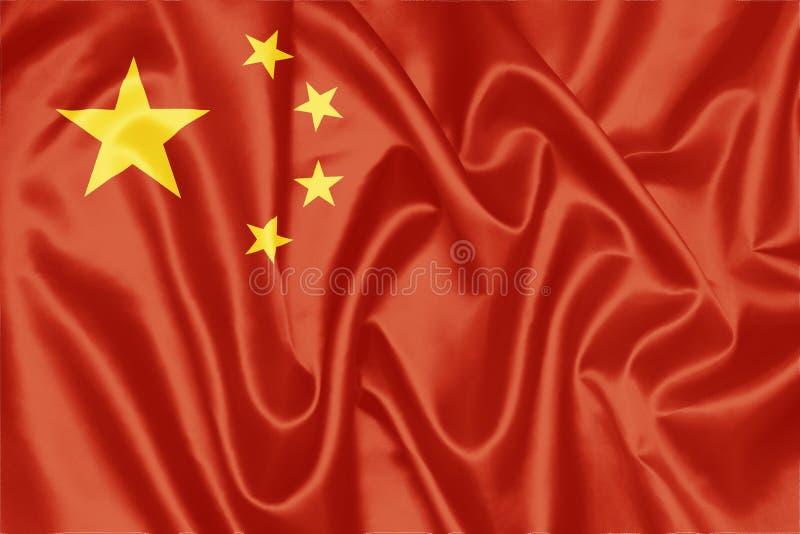 Kinesisk flagga - Kina royaltyfria foton