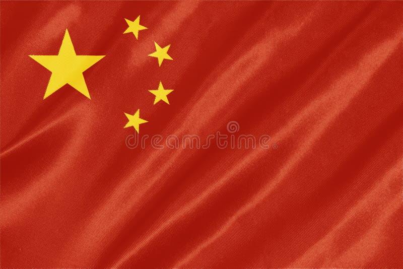 Kinesisk flagga - Kina royaltyfri bild