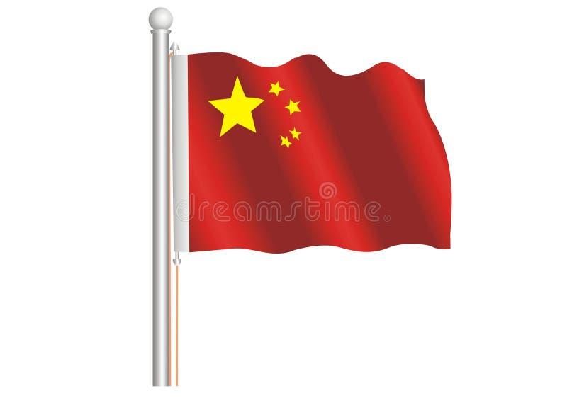 kinesisk flaggavåg arkivbilder
