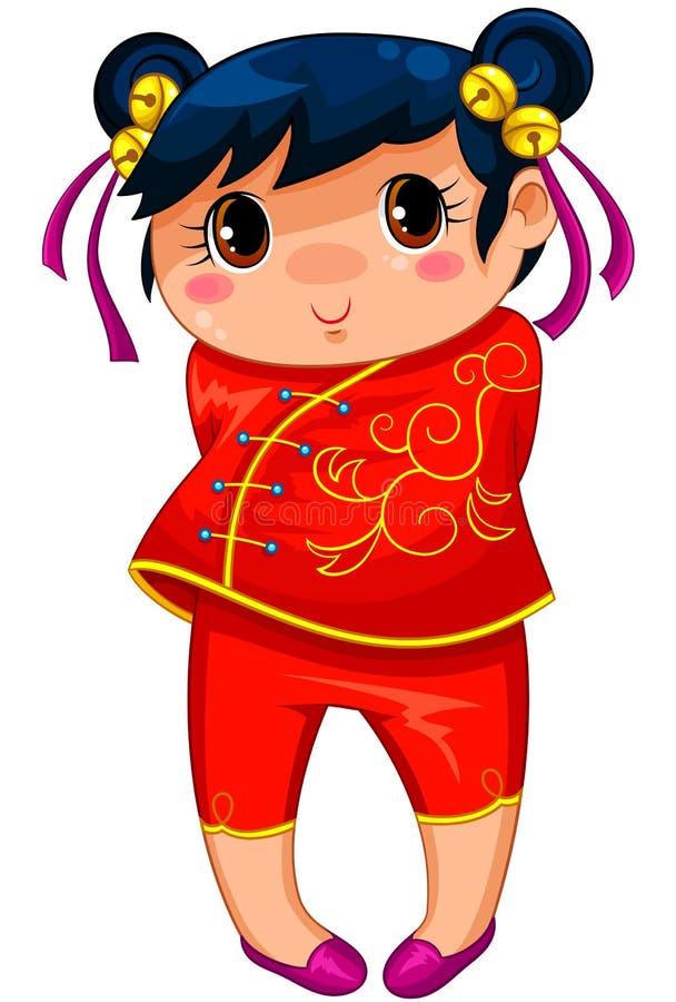 Download Kinesisk flicka stock illustrationer. Illustration av längd - 27287836