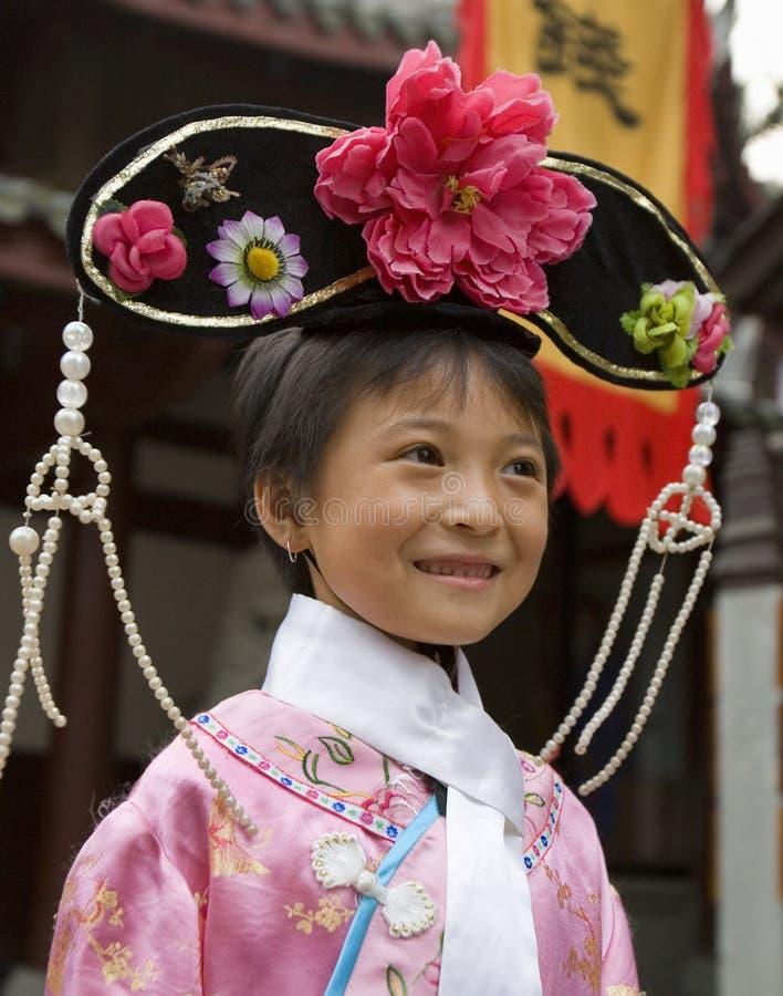 Kinesisk flicka - Chengdu - Kina arkivfoto