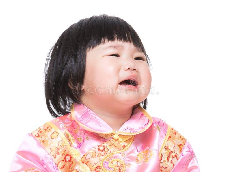 kinesisk flicka little som är älskvärd arkivfoto