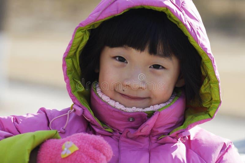kinesisk flicka little stående royaltyfria bilder