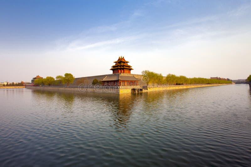 Kinesisk forntida byggnad arkivbilder