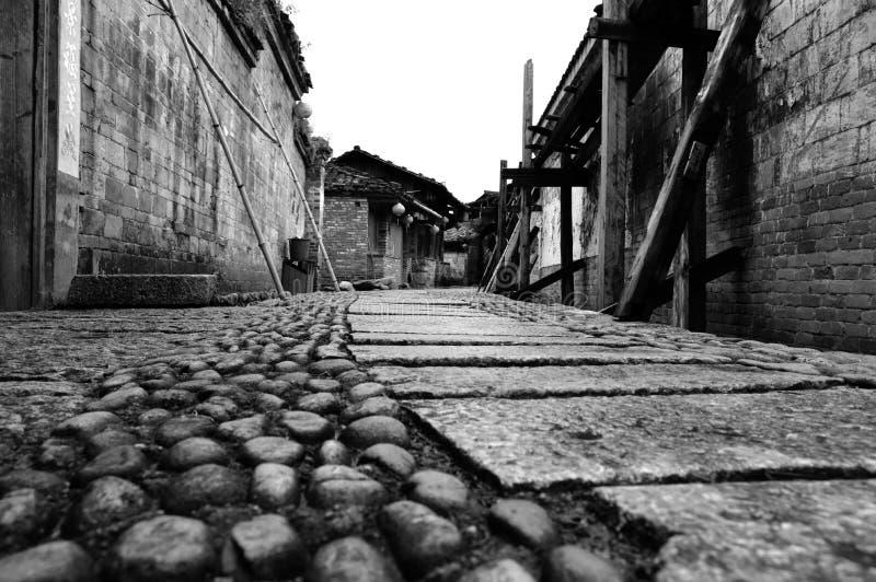 Kinesisk forntida gata royaltyfria bilder