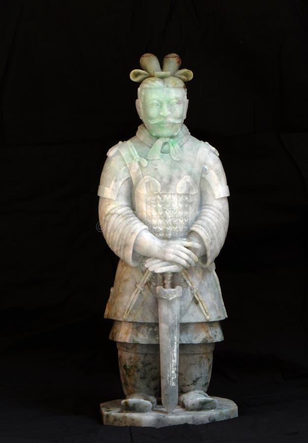 Kinesisk forntida jade som snider konst av terrakottan arkivfoto